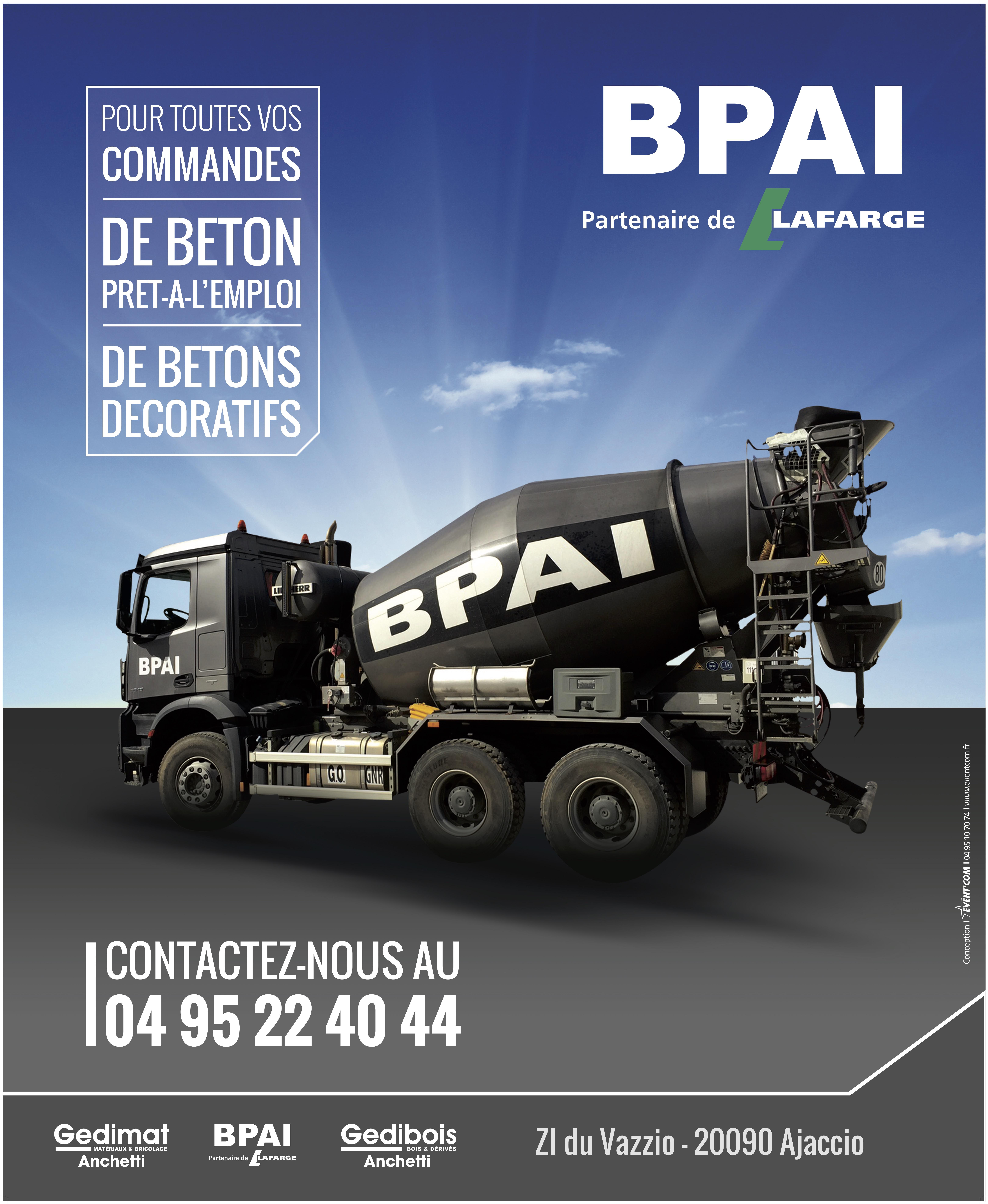 BPAI spécialiste du béton prêt à l'emploi, accompagne professionnels et particuliers dans leurs projets de constructions, d'aménagements et de rénovations.