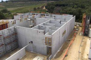 Réalisation BPAI partenaire Lafarge chantier béton autoplacant Collège Stiletto Ajaccio Corse