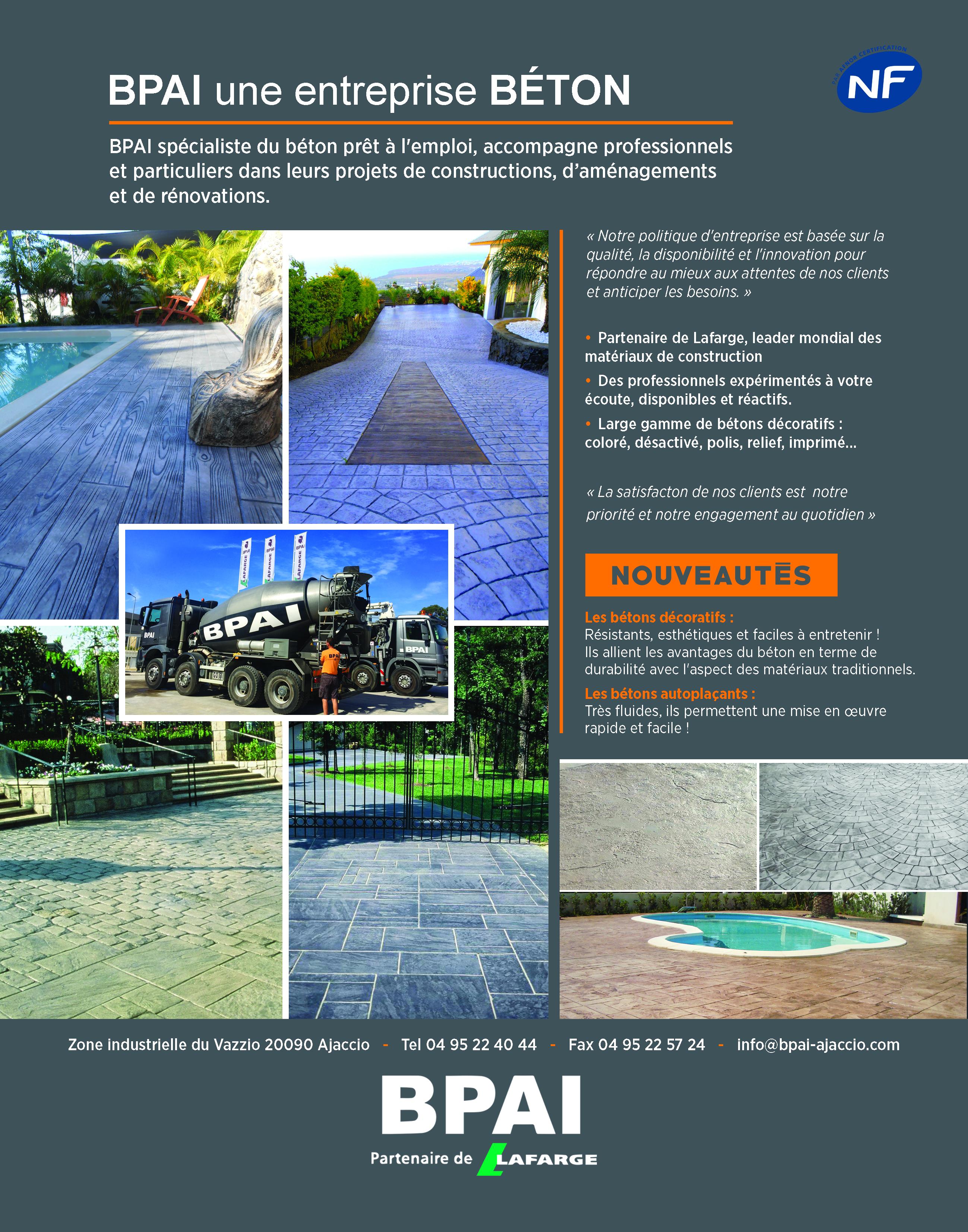 Pub_BPAI_CAMPA QUI BPAI franchisé Lafarge Holcim spécialiste du béton prêt à l'emploi, béton décoratif, accompagne professionnels et particuliers dans leurs projets de constructions, d'aménagements et de rénovations.