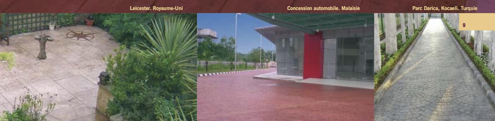 BPAI partenaire Larfarge Holcim brochure béton spéciaux décoratif Artevia - Béton Empreinte réalisation