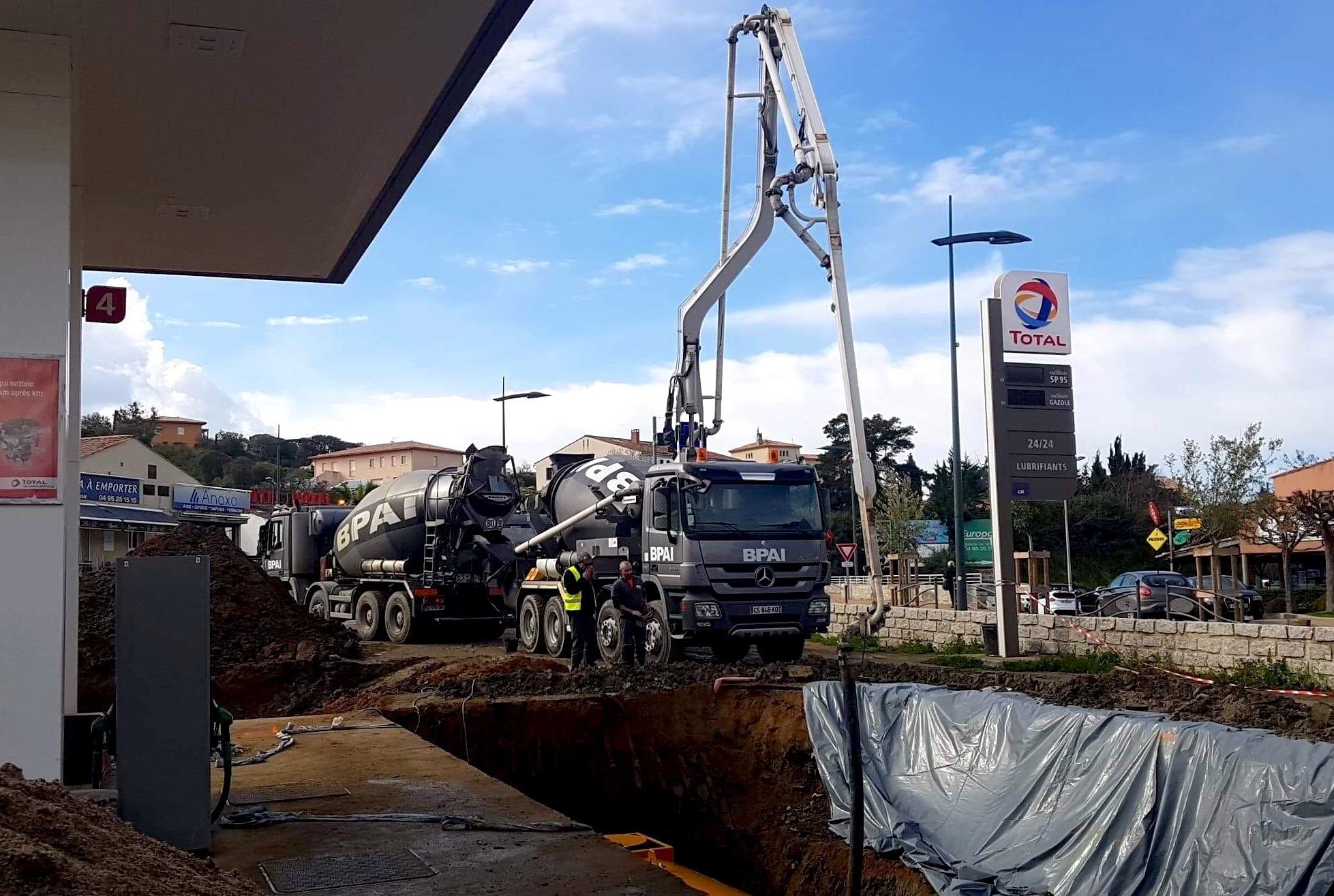 Station essence Porticcio BPAI organise la livraison et la manutention de bétons et mortiers prêts à l'emploi #BPE directement sur votre chantier. Pour les professionnels ou les particuliers