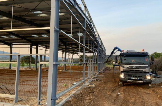 Réalisation travaux BPAI partenaire Lafarge chantier béton Ajaccio Corse du sud pompage camion pompe