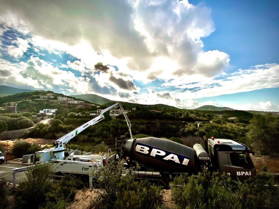 BPAI béton livraison camion pompe